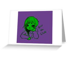 baby hulk club Greeting Card