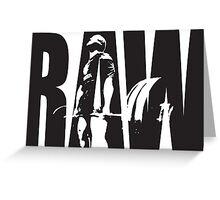 Raw Strength (Deadlift) Greeting Card