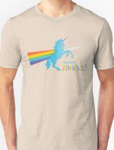 Cool unicorn like rainbow prism Unisex T-Shirt