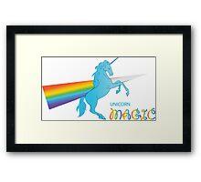 Cool unicorn like rainbow prism Framed Print