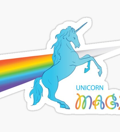 Cool unicorn like rainbow prism Sticker
