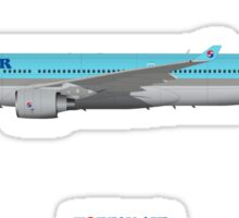 Illustration of Korean Air Airbus A330-300 Sticker