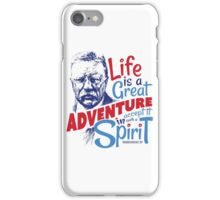 Life Adventure Spirit Theodore Roosevelt Red Blue iPhone Case/Skin