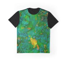 Green Abstract  Graphic T-Shirt