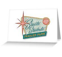 Starlite Starbrite Trailer Park Greeting Card