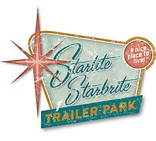 Starlite Starbrite Trailer Park Photographic Print