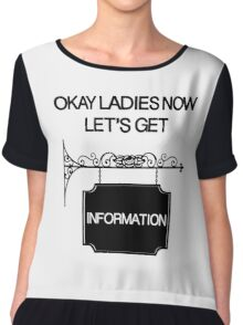 Okay Ladies now Let's Get Information  Chiffon Top