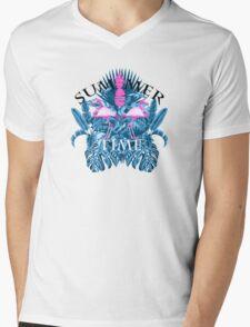summer time blue  Mens V-Neck T-Shirt