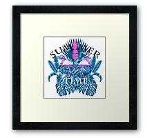 summer time blue  Framed Print
