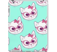 Kawaii kitty with glasses iPad Case/Skin