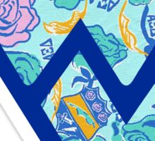flying dub v alpha xi delta wvu Sticker