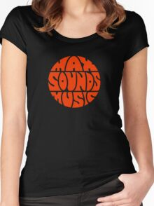 Max Sounds Music - Orange Women's Fitted Scoop T-Shirt