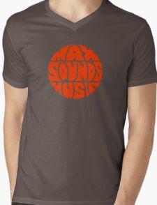 Max Sounds Music - Orange Mens V-Neck T-Shirt