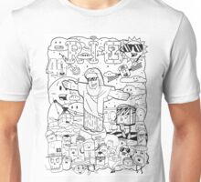 The Face of Rio - All Rio - Black and White Unisex T-Shirt