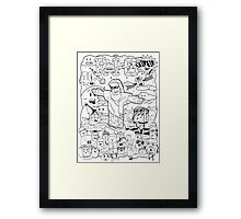 The Face of Rio - All Rio - Black and White Framed Print