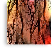 Glamour Trees (earth tones) Canvas Print