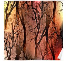 Glamour Trees (earth tones) Poster