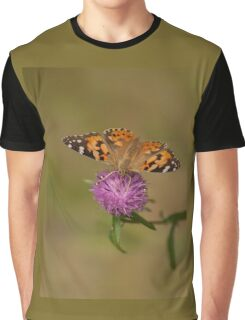 Red Admiral on Wild Clover Graphic T-Shirt