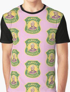 Leslie Knope Pawnee Goddesses Badge Graphic T-Shirt