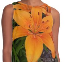 Big Orange Lily Contrast Tank