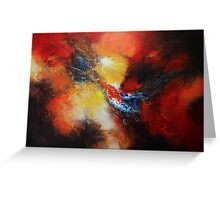 Fury Abstract  Greeting Card