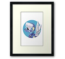 Rainbow Dash Wonderbolt combat gear Bust Framed Print