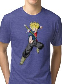 Mirai Trunks Saiyan Tri-blend T-Shirt