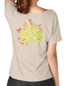 Watercolor Leaf Women's Relaxed Fit T-Shirt