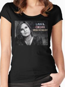 Olivia Benson Law and Order SVU Women's Fitted Scoop T-Shirt