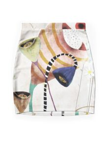 Whimsical Wedding Bouquet Flowers Design Mini Skirt