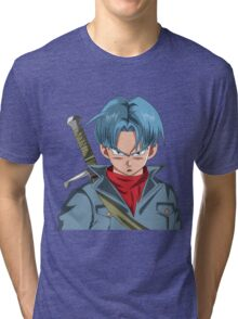 Mirai Trunks Face Tri-blend T-Shirt
