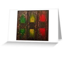 Caged Brown Background Greeting Card