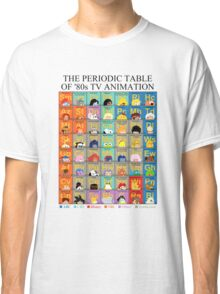 The Periodic Table of 80s TV animation Classic T-Shirt