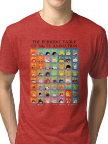 The Periodic Table of 80s TV animation Tri-blend T-Shirt