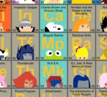 The Periodic Table of 80s TV animation Sticker