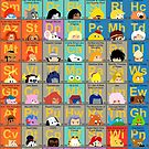 The Periodic Table of 80s TV animation by Mike Boon