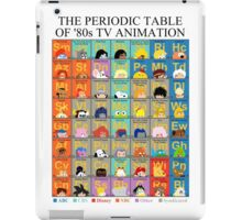 The Periodic Table of 80s TV animation iPad Case/Skin