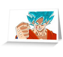 Goku Super Saiyan God Greeting Card