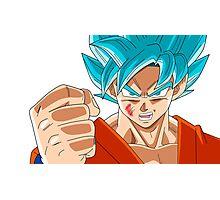 Goku Super Saiyan God Photographic Print