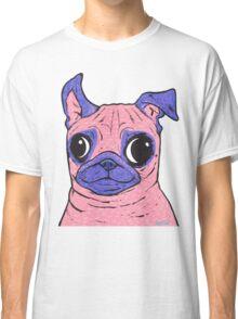 Pastel Pink Pug Classic T-Shirt