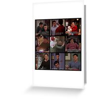 Joey Tribbiani Quotes Collage Greeting Card