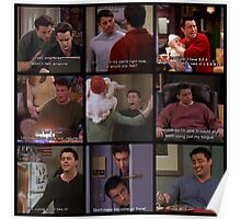 Joey Tribbiani Quotes Collage Poster