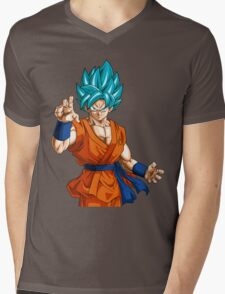 Goku God Mens V-Neck T-Shirt