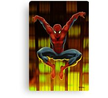 Spidey Drops By Canvas Print