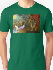 Princess Celestia fighting Spaghetti Dragon  Unisex T-Shirt