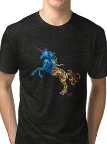 Flaming Unicorn Tri-blend T-Shirt