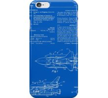 Space Shuttle Patent - Blueprint iPhone Case/Skin