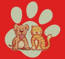 Cat and dog Baby Tee