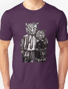 Tiger Family Portrait Unisex T-Shirt