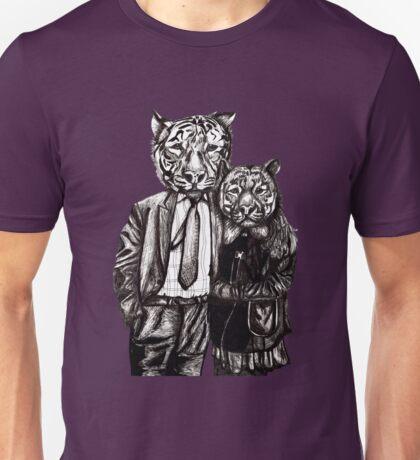 Tiger Family Portrait Unisex T-Shirt